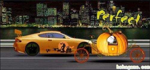 《极速飞车》坐在南瓜车里过万圣节
